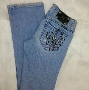 Miss Me Light Distressed Boot Cut Jeans