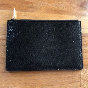 NEW Black Sparkly Cosmetic Bag