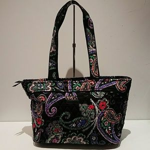Vera Bradley black and rainbow floral bag