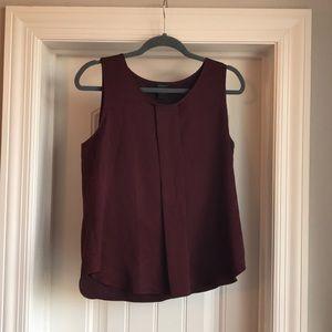 Burgundy Ann taylor blouse size M