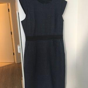 Size 8 Jcrew navy tweed dress