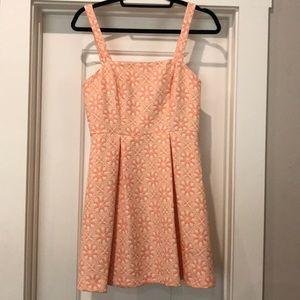 NEW pink & cream dress size small