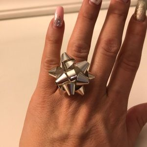 Jewelry - Christmas Silver Bow Ring!