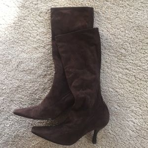 Women's Brown Suede Boots EU Size 40 US 9-10