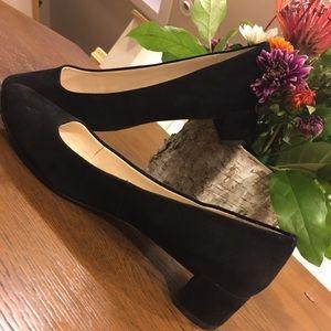 Holiday shoe ! Suede block-heels