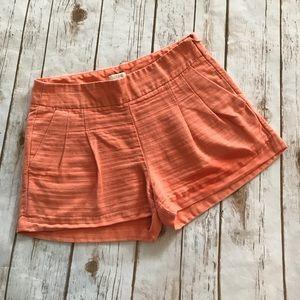 J. Crew - Gorgeous Coral Cotton/Linen Shorts, 2