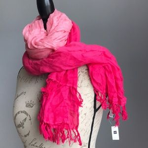 Gap Two Tone Pink Scarf