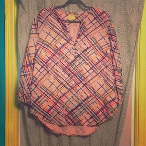 Maeve x Anthropologie Flannel Tunic Top