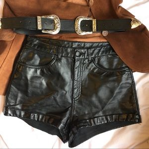 H&M pseudo  leather shorts perfect condition