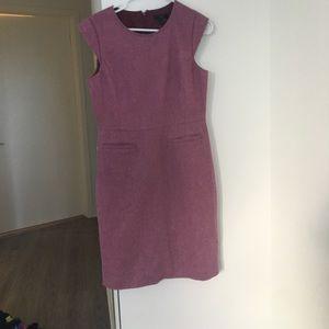 Size 8 Jcrew pink tweed dress