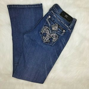 Miss Me Embellished & Embroidered Boot Cut Jeans