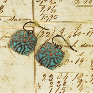 Jewelry - Copper Patina Artisan Earrings