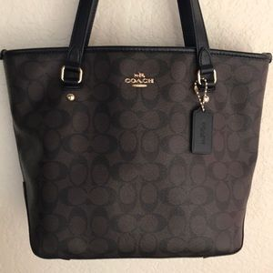 COACH zip tote Coated Canvas