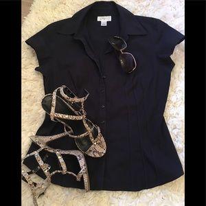 Ann Taylor LOFT short leave blouse