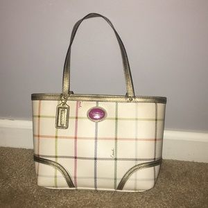Coach Peyton Tattersall tote bag purse
