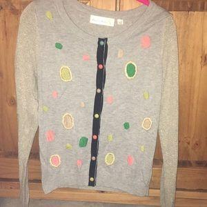 Anthropologie Solaris Shimmer Cardigan Sweater MED