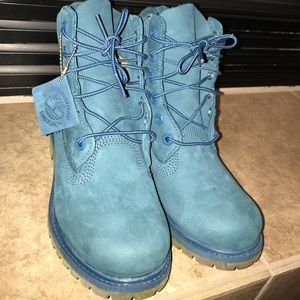 Dark teal limited edition Timberlands