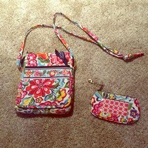 NEW Vera bradley floral hipster purse & ID holder