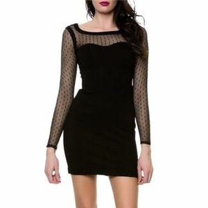 NEW Devotion Bodycon Bandage Dot Mesh LBD Dress