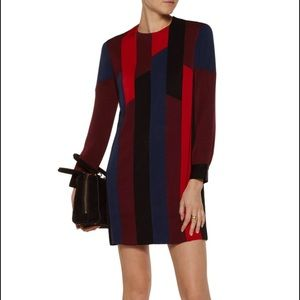 Sandro Roberte Color Block Crepe de Chine Mini