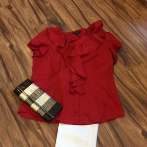 Banana Republic red XL blouse