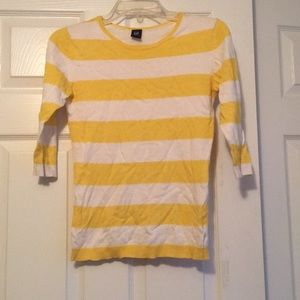 Gap - 3/4 sleeve sweater - yellow and white