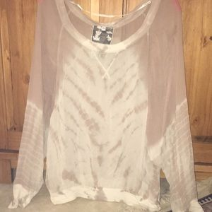 Young Fabulous & Broke Tie-Dyed Balloon Blouse