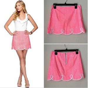 Lilly Pulitzer gingham scallop skirt