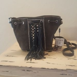 NWT Montana Ear black denim purse