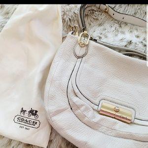 Cream Coach Leather Bag