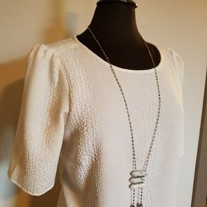 Like New Winter White Blouse with Modern Twist