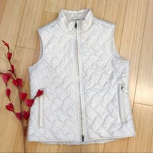 ROYAL ROBBINS cream quilted vest, S.