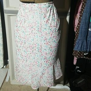 New York and Co. pastel flounce skirt size L