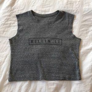 """""""KILLIN' IT"""" logo muscle tee from BRANDY"""