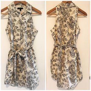 Banana Republic Sleeveless Cotton Button-Up Dress