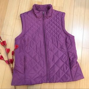CROFT &B ARROW purple quilted vest, M.