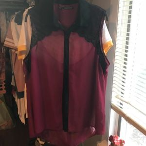 Maurice's 2 burgundy shirt