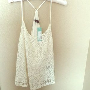Arc & Co lace halter blouse