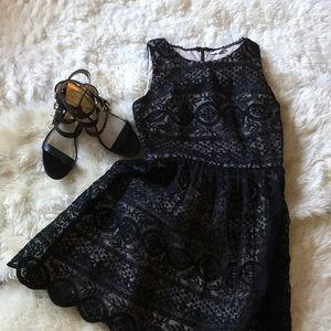 Gorgeous black lace overlay dress