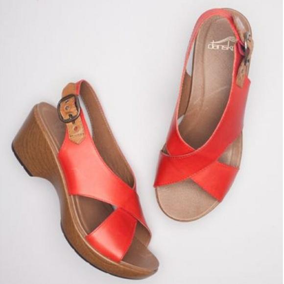 47f573773e0 Dansko Shoes - DANSKO Jacinda Leather Slingback Sandal Size 41