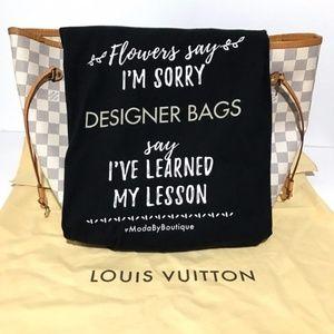 'Designer Bags' Womens Short Sleeve T-Shirt Black