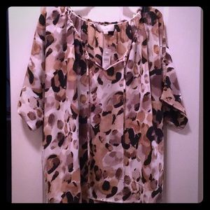 Leopard print blouse from Loft