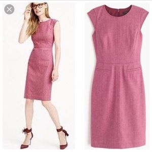 NWT jcrew cap sleeve dress donegal will - pink