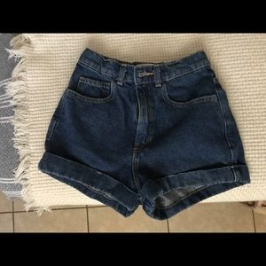 High Waist Cuff Shorts
