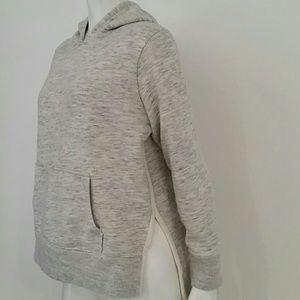 Madewell side-slit hoodie sweatshirt gray cream S