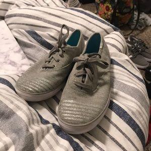 sparkly grey keds