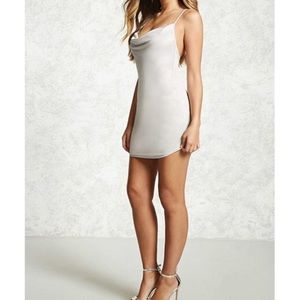 Gold silver mini dress