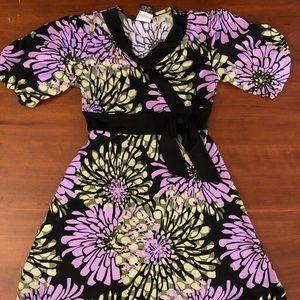 Girls dress size 8 black and purple