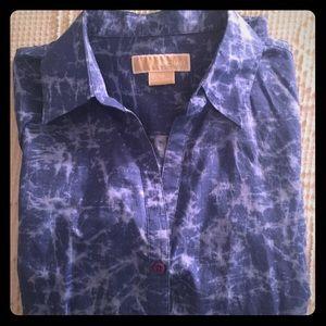 Michael Kors tie dye button down shirt