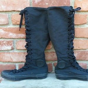 converse knee high boots. converse all star knee high lace ups boots z